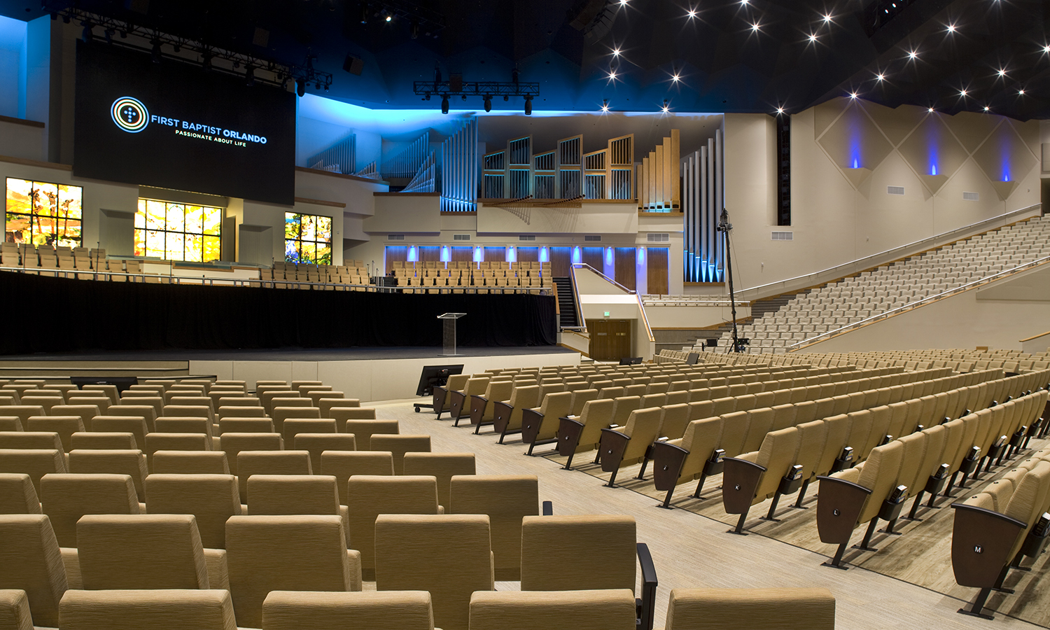 First Baptist Church in Orlando with Vera Seats by Series Seating