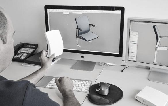 Designer at computer